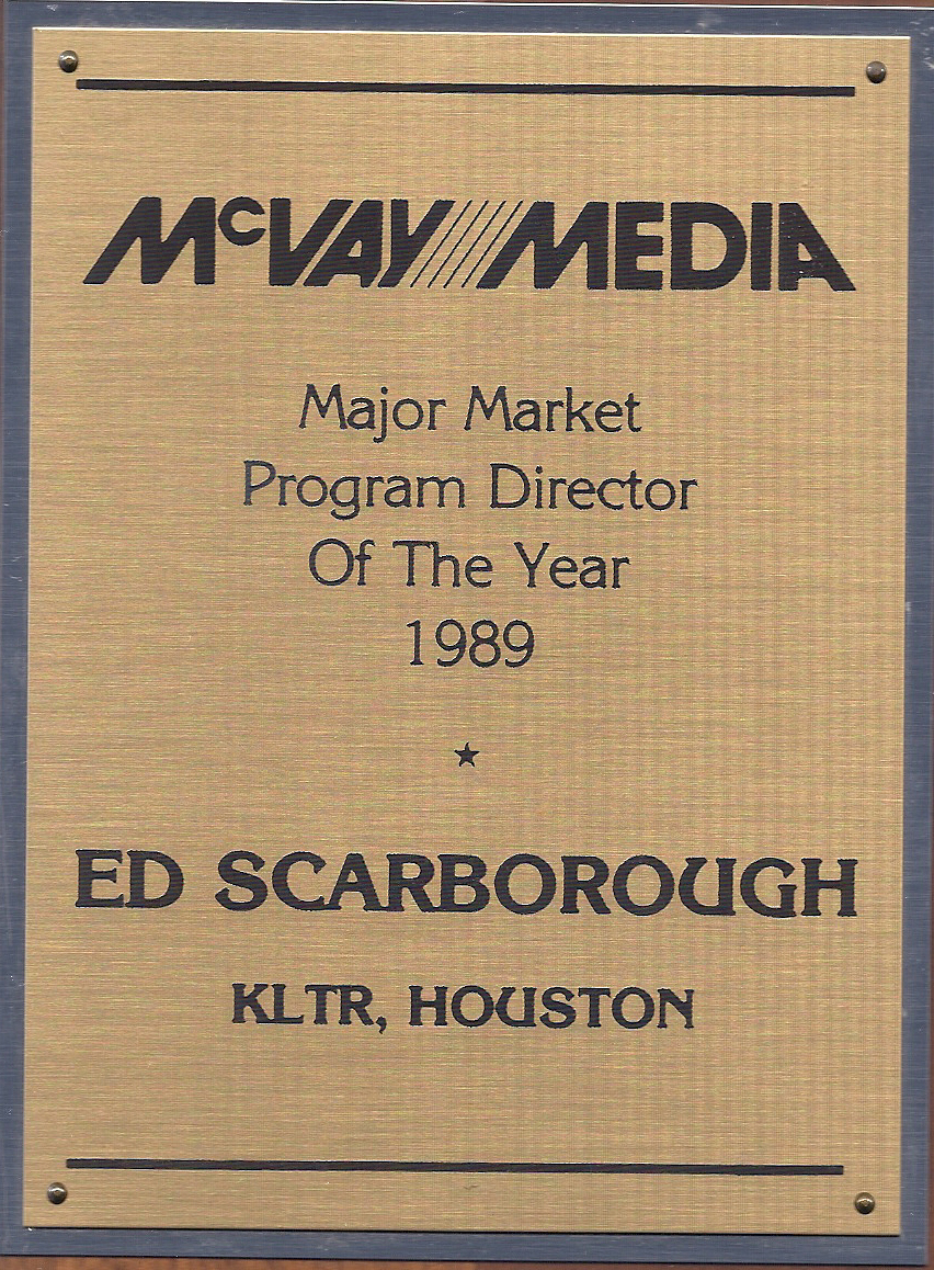 McVay Media Major Market PD of the Year -1989